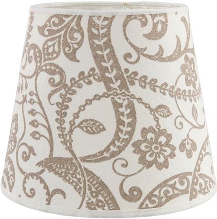 Bilde av PR Home Mia glatt Lampeskjerm Lin Flora 17cm