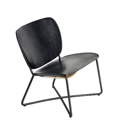 Functionals Miller lounge fåtölj ? Svart ram, svart klädsel