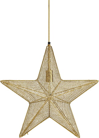 Orion hanging star Guld 44cm