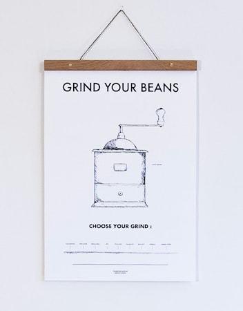 Bilde av Owl streets Coffee grinder poster