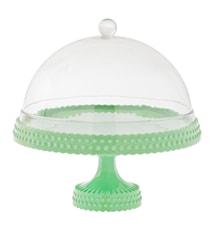 Pastellgrönt tårtfat med kupa