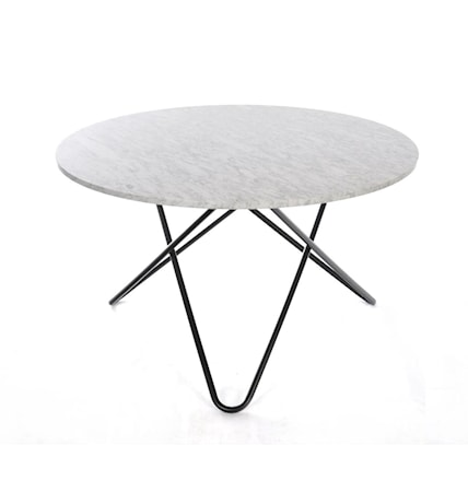 OX DENMARQ Big O table Matbord Carrara/Svart
