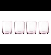 Simply glas 4 st - rosa