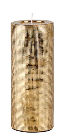 Bilde av KJ Collection Lyslykt Keramikk Gull 19 cm