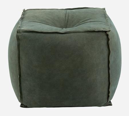 House Doctor Puff i mocka 40x40 cm - Grå/grön