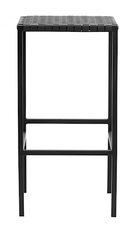 Barstol Läderkudde/Metall Svart