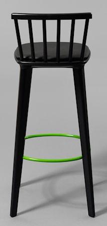 minus tio Jackie läder svart barstol ? H65 Röd