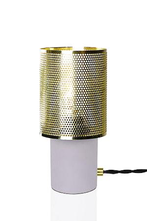 Bilde av Globen Lighting Bordlampe Rumble Betong / Børstet Messing