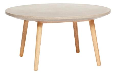 Bilde av Hübsch Concrete oak sofabord