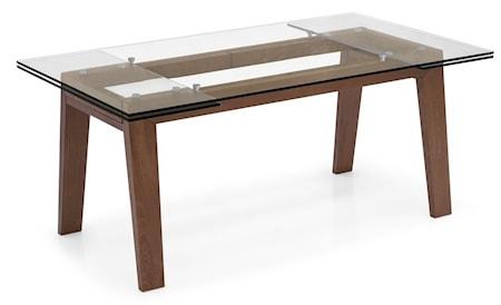 Calligaris Maestro matbord – Transparent valnöt