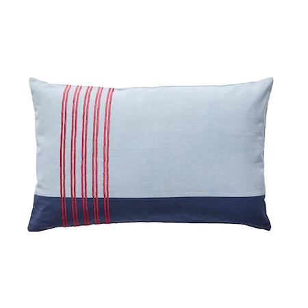 Kudde med Bomullsfyllning Blå/Röd 50x80 cm