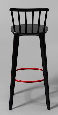 minus tio Jackie läder barstol svart ? H65, röd