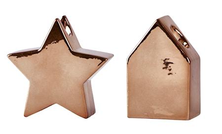 Ljusstake Keramik Brons 20 cm 1st