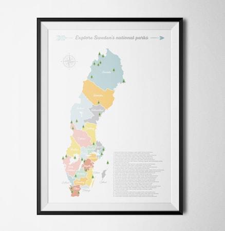 Bilde av Konstgaraget Swedish national parks poster – 50x70