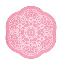 Silikonform för kristyrdekoration i blomformat spetsmönster