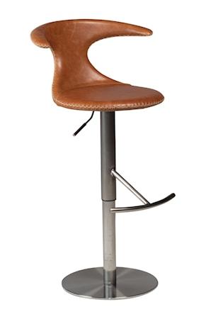 Dan Form Denmark Barstol Flair Läder Stålbas - Ljusbrun