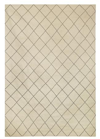 Diamond Dhurry Matta Ull Grå/Off White 184x280 cm