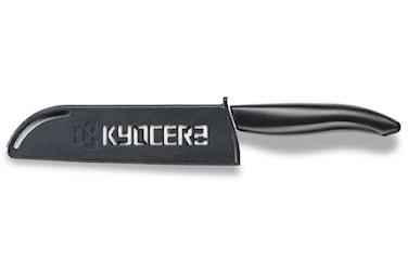 Bladskydd, svart plast, Kyocera logo, 13 cm
