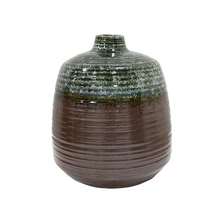 Bilde av Blomstervase i Keramikk Grønn/Brun