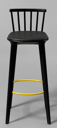 minus tio Jackie läder barstol svart ? H65, gul