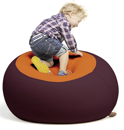 Terapy Ergonomic Living Stanley sittsäck - Aubergine/orange
