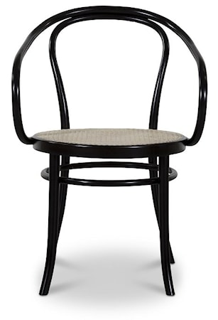 Fameg Thonet No 30 karmstol m. rottingsits
