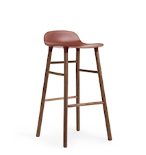 Form Barstol Röd/Valnöt 75 cm