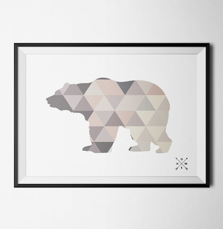 Bilde av Konstgaraget Nordic bear light poster