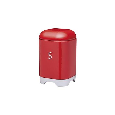 Kitchen Craft Opbevaringsbeholder Stål S Rød 11x11x18 cm