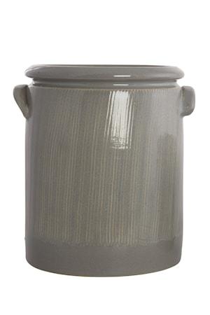 House Doctor Kukkaruukku Pottery 24 cm – Vaaleanharmaa