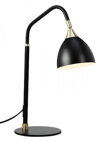 Bilde av Cottex Läza Bordlampe Black with Brass details