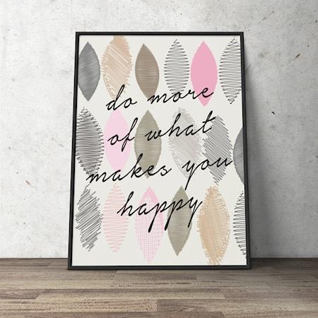 Bilde av Konstgaraget Happiness poster