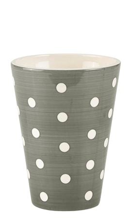 Bilde av KJ Collection Vase Prikkete Grå 20 cm