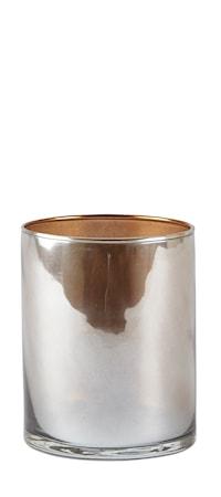 Bilde av KJ Collection Lysestake Glass/Nude 8x10 cm