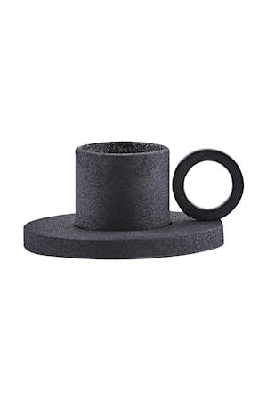House Doctor Kynttilänjalka The Ring Ø 10x5 cm - Musta