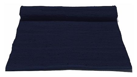 Rug Solid Cotton matta – Deep ocean blue 170 cm 240 cm