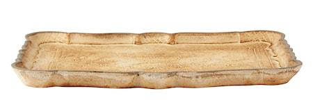 KJ Collection Bakke - m. mønster - Træ - Sand - Antik - H 2,3cm - L 31,5cm - B 24,0cm - Stk. thumbnail