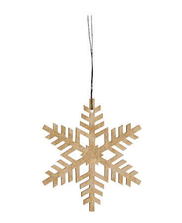 Nordal Julgransdekoration Snowflake - Guld
