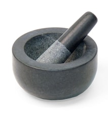 Mortel, svart granit, mellan