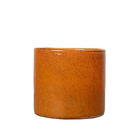 Vas/Ljusstake Calore Orange 15 cm