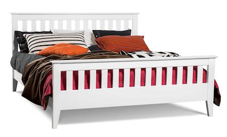 Mavis Smögen ribb säng - vitlack, 180 x 200