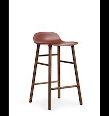 Form Barstol Röd/Valnöt 65 cm
