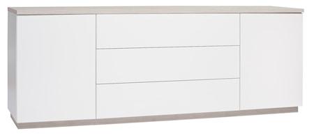 Hiipakka Sonaatti skänk - 200 cm - vit/ask