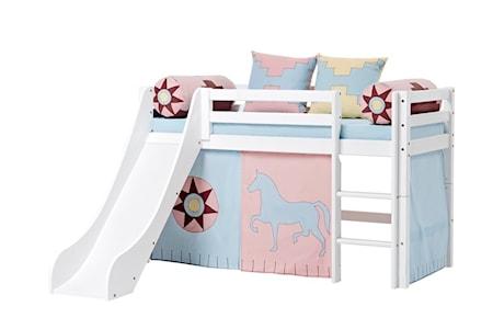 Hoppekids Basic slide loftsäng – Indian girl sängpaket