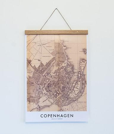 Bilde av Owl streets Copenhagen Map poster