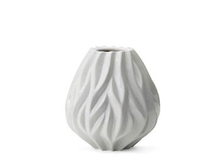 Vase Flame 19 cm hvid Morsø