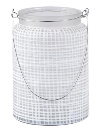 KJ Collection Ljuslykta med handtag Metall/Vit 14 cm