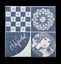 Pappersservett, blå, 40x40 cm