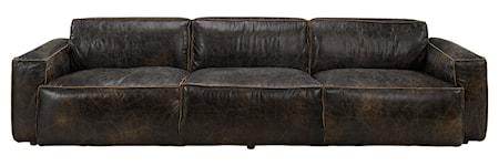 Buddy 4-sits soffa Läder Fudge