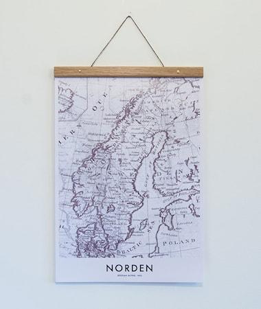 Bilde av Owl streets Norden Map poster